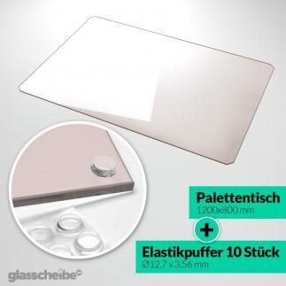 Palettentischglas 1200 x 800 x 6 mm Braunglas