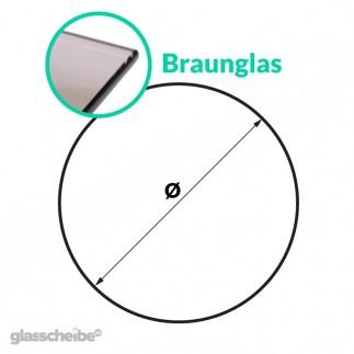 Tischglas Kreis - ESG Braunglasplatte