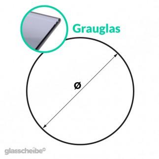 Tischglas Kreis - ESG Grauglasplatten