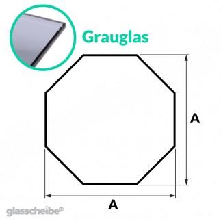 Tischglas Octagon - ESG Grauglasplatten