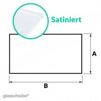 Tischglas Rechteck - ESG Satiniert