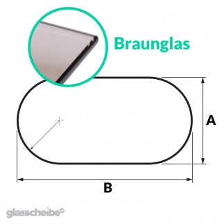 Tischglas Rund - ESG Braunglasplatte