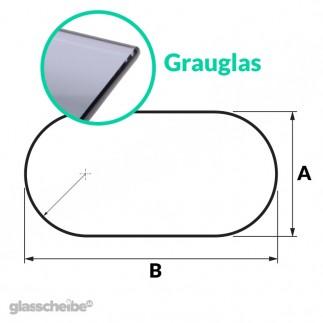 Tischglas Rund - ESG Grauglasplatte