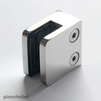 Edelstahlhalterung für Glasscheiben 10mm rechteck poliert