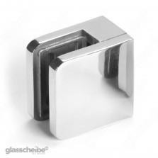 Edelstahlhalterung für Glasscheiben 8mm rechteck poliert