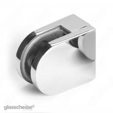 Edelstahlhalterung für Glasscheiben 10mm rund poliert