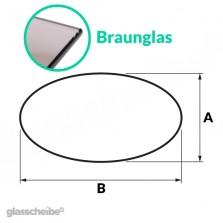 Tischglas Ellipse - ESG Braunglasplatte