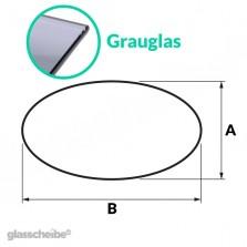 Tischglas Ellipse - ESG Grauglasplatte