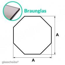 Tischglas Octagon - ESG Braunglasplatte