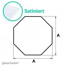 Tischglas Octagon - ESG Satiniert
