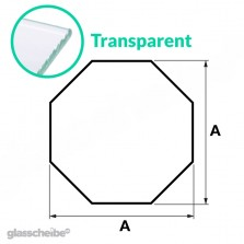 Tischglas Octagon - ESG Transparent