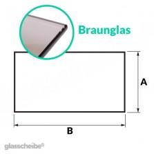 Tischglas Rechteck - ESG Braunglasplatte