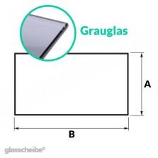 Tischglas Rechteck - ESG Grauglasplatte