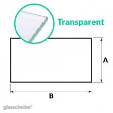 Tischglas Rechteck - ESG Transparent
