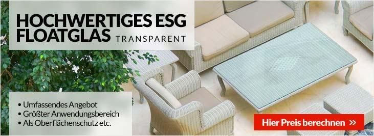 Hochwertiges ESG Floatglas Transparent